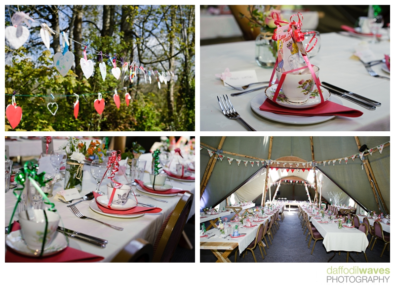 Tipi wedding in Wales