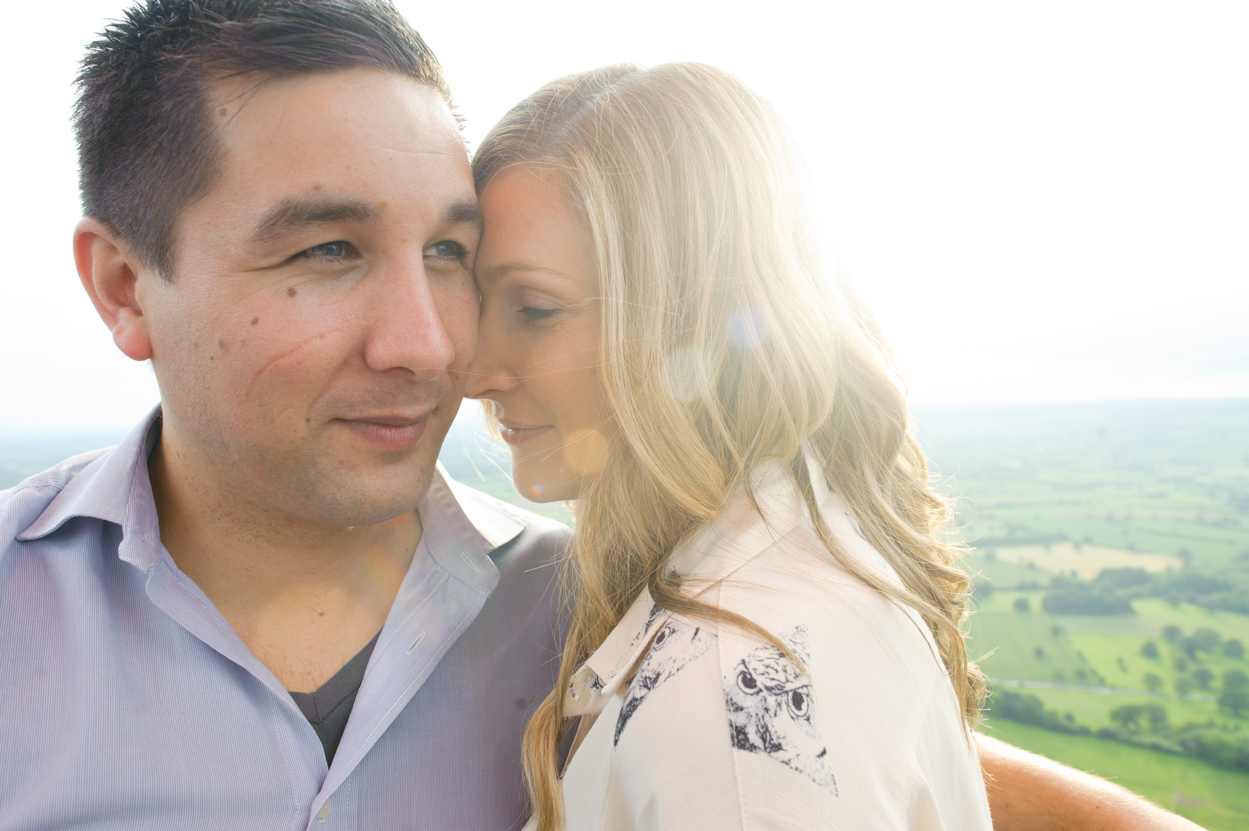 Virgin Balloon Flight Engagement Shoot - Daffodil Waves Photography