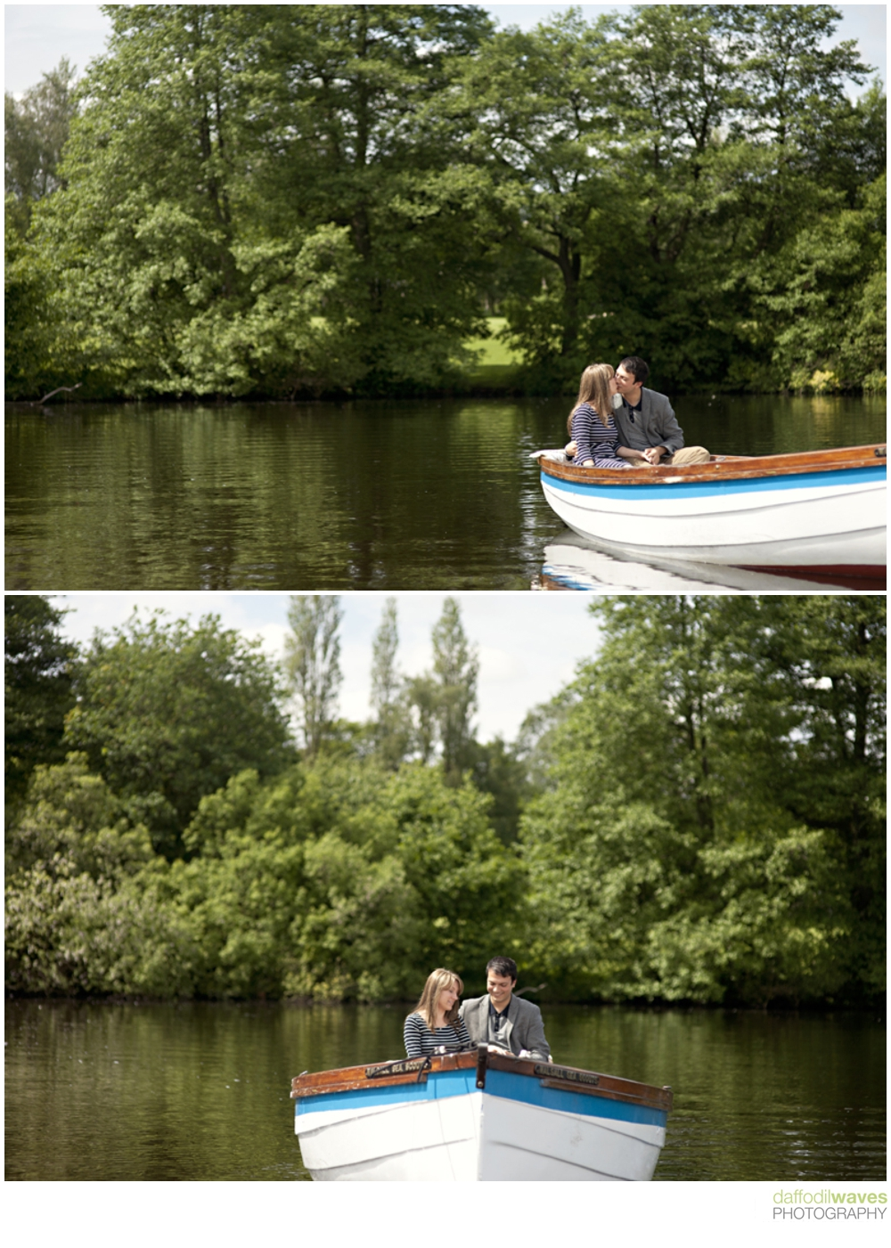 Rowing Boat Engagement Shoot Diana & Omar Daffodil Waves Photography